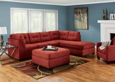 Marlo 3 Pc Laf Sectional Red Sectionals Living Room Amp 1