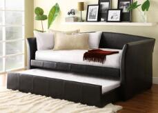 DONOVAN 3PC DAYBED W/TWIN TRUNDLE BROWN