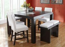 Broadway Counter Height White 5 Pc. Dinette