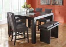 Broadway Counter Height Brown 5 Pc. Dinette